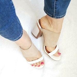 Rebecca Minkoff Size 8 Block Heels Slides Sandals